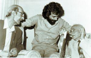 مع ميخائيل نعيمة والشاعر القروي 1981