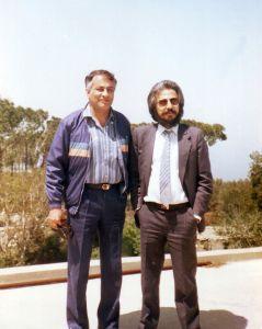 مع عبد الرحمن مجيد الربيعي 1986