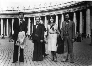 مع مي منسى- سمير صايغ- هنري الكك 1977