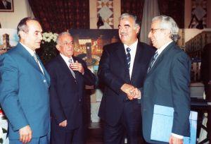 مع الرئيس الحريري 2003