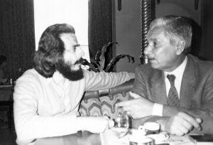 مع عبد الوهاب البياتي 1984