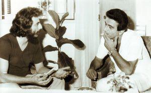 مع الشاعر إيليا أبو شديد 1980