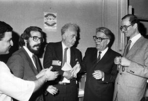 مع سعيد عقل وفؤاد الترك 1986