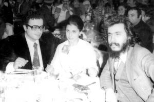 مع الفنانة ماجدة الرومي وزوجها 1979